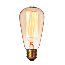 Loft Vintage Edison Bulbs ST64/G95/G80 E26/E27 Incandescent Light Bulbs 40W 110V 220V Filament Bulb Edison LED Pendant Lamp