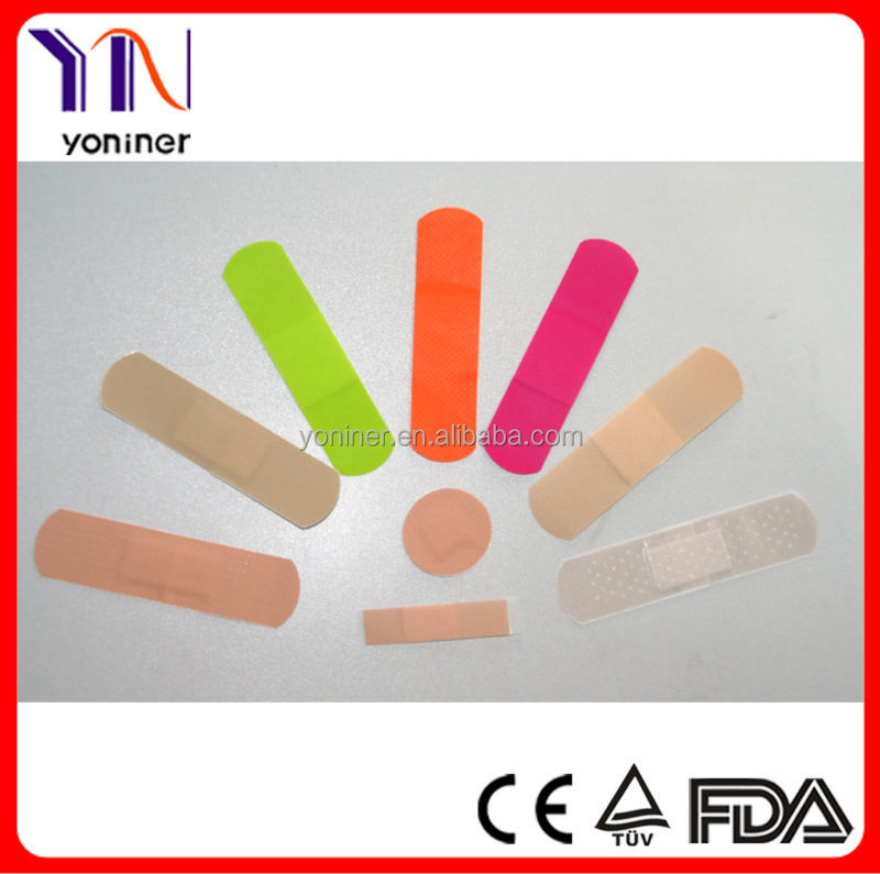 Different Shape Band aids Plaster Non Latex Manufacturer CE FDA Approved