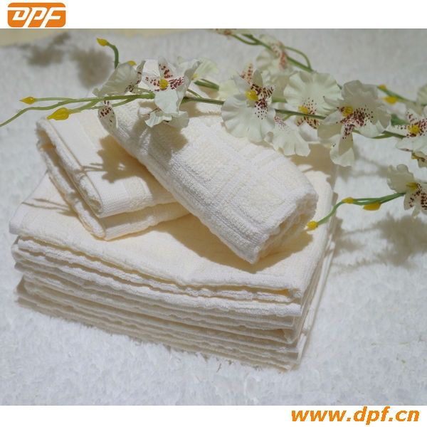 Shanghai DPF textile Jacquard turkish cotton cleanning hotel towels
