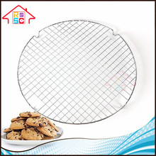 Advanced Metal Nonstick Bakeware Rack 13Inches in Diameter Cross-wire Chrome-Plated Round Cooling Grid Rack Single Layer