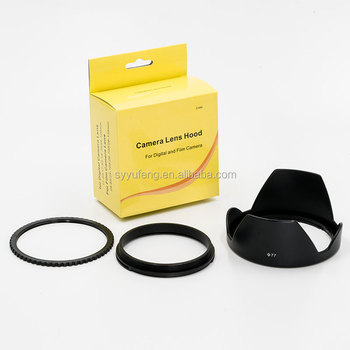 Camera accessories 77mm Reversible Tulip Flower Lens Hood
