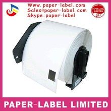 "(300 labels) 2 3/7"" x 4"" roll of thermal paper dk202 dk-11202 compatible for QL700 label"