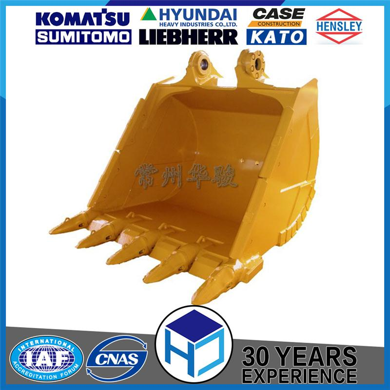 Changzhou HJ 2.8cbm hard rock bucket fit for 50ton excavator