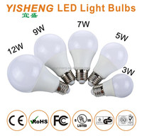 3W 5W 7W 9W 12W 15W Plastic & Aluminum E27 LED Light Bulb, Beam Angel 270 Degree,CE/RoHS/EMC Approved