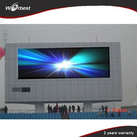 P6 outdoor wall mounted led sign boards