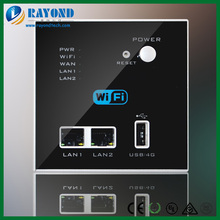 High Secure Multifunction Wall 3G/4G Wifi Router with 5V/1A USB Charger for Hotel Rooms and Homes
