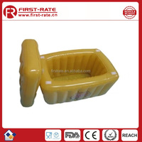 square PVC inflatable ice bucket for swimming poor