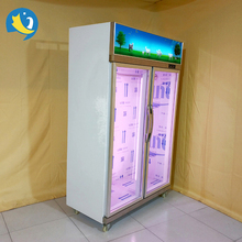 new design commercial fresh meat hanging refrigerator Vertical Meat Hanging Freezer Refrigerator Cabinet showcase