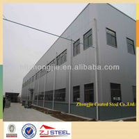 ISO & CE low cost 2 story prefabricated house steel structure building