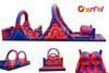 Giant Inflatable Jumping Running Obstacle with Barrier Slide and Climber for Adult and Children