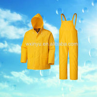 PL-59 PVC yellow women shower resistance rain coat