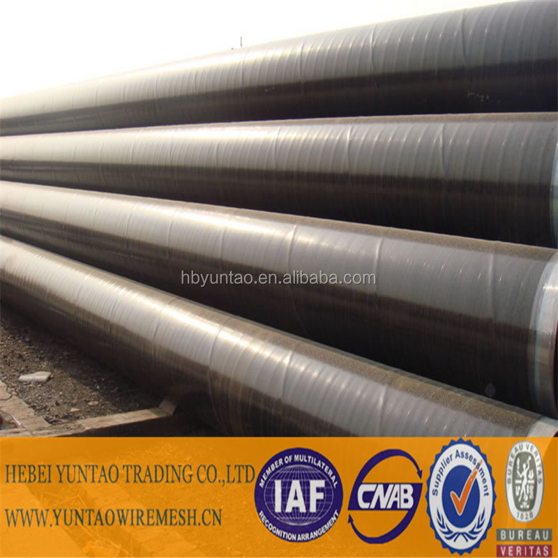 external 3PE coating steel pipe for natural oil and gas pipeline use/anti-corrosion 3 layer polyethylene pipe