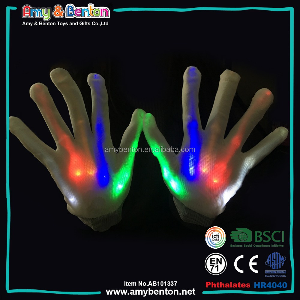2017 New Lighting Fingers LED Party Supplies Gloves Flashing Gloves