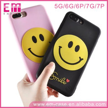 Smile Face 360 degree Soft Phone Case protective Back Cover for iPhone7 7plus phone Case