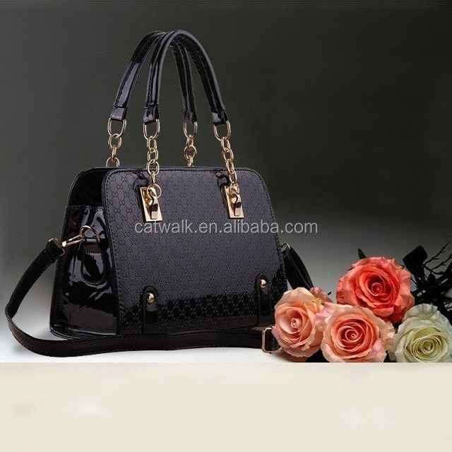 catwalk01247 black 2014 Lady Fashion Elegance Ladies PU Hand Bags Women PU Shoulder Bags