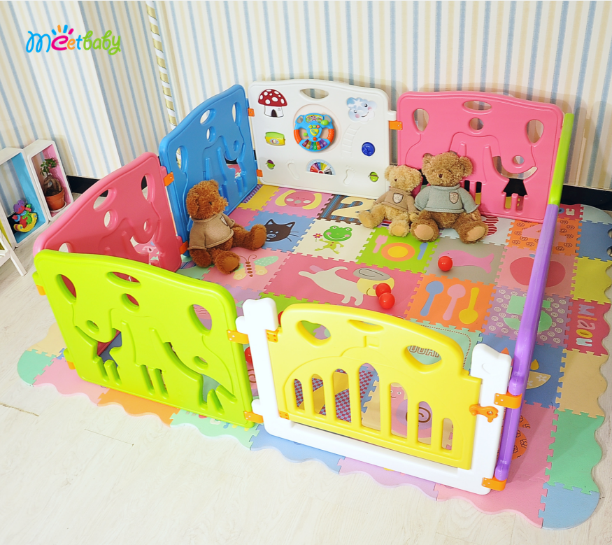 6+2,8+2,10+2,12+2,14+2 hot sale baby playpen baby safety products playpen play yard