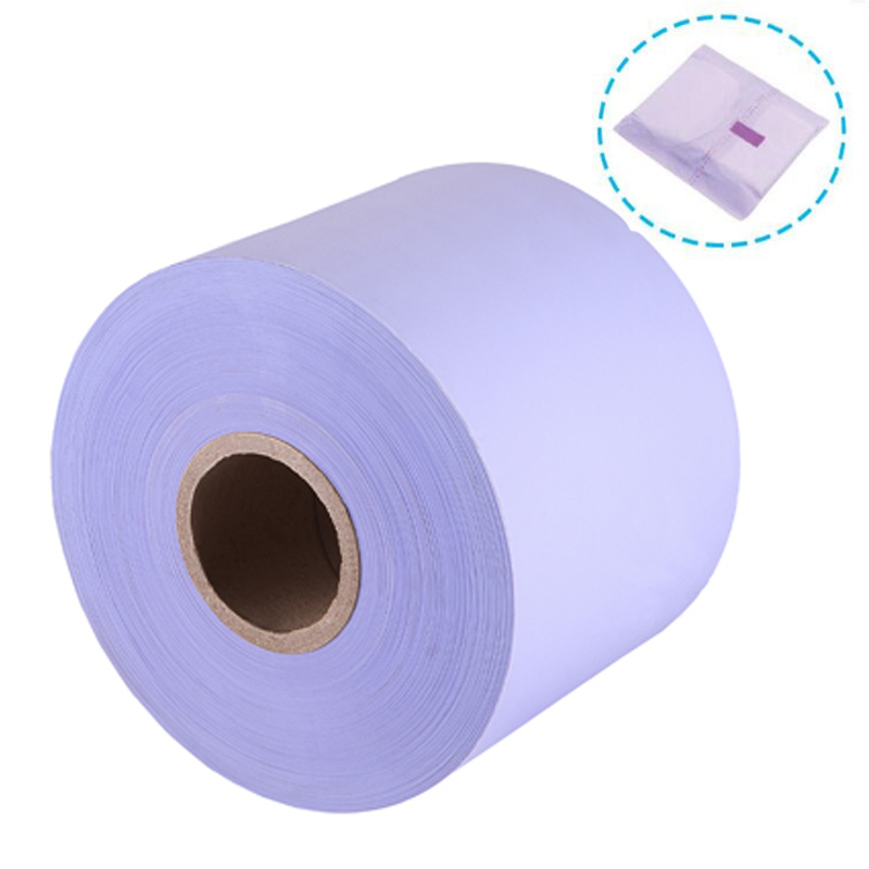 coloured pe stretch packing material Sanitary Napkin pouch film
