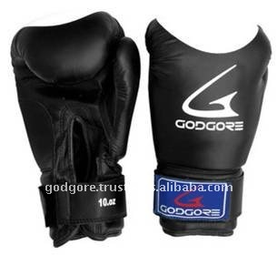 Training and Sparring Developed Pre Formed Mould Provide Extra Protection Black Plain Cheap Boxing Gloves