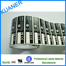 self adhesive label paper / electronics battery labels