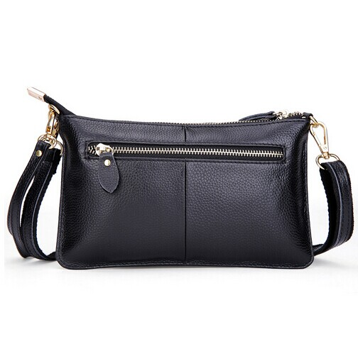 Ladies evening clutch black pu leather hand purse
