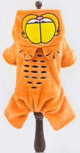 Wholesale high quality dogs thick warm jumpsuit ,Garfield dogs costume with 4 legs