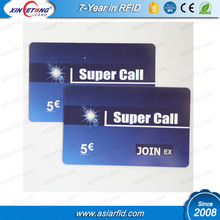 Membership card ID and access management card, LF 125Khz frquency TK4100 plastic card