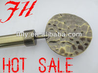 Flat-Round Finial Telescopic Curtain Pole