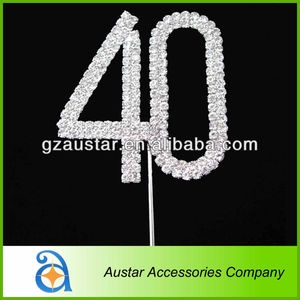 Suitable for birthday party Diamante Rhinestone Cake Topper