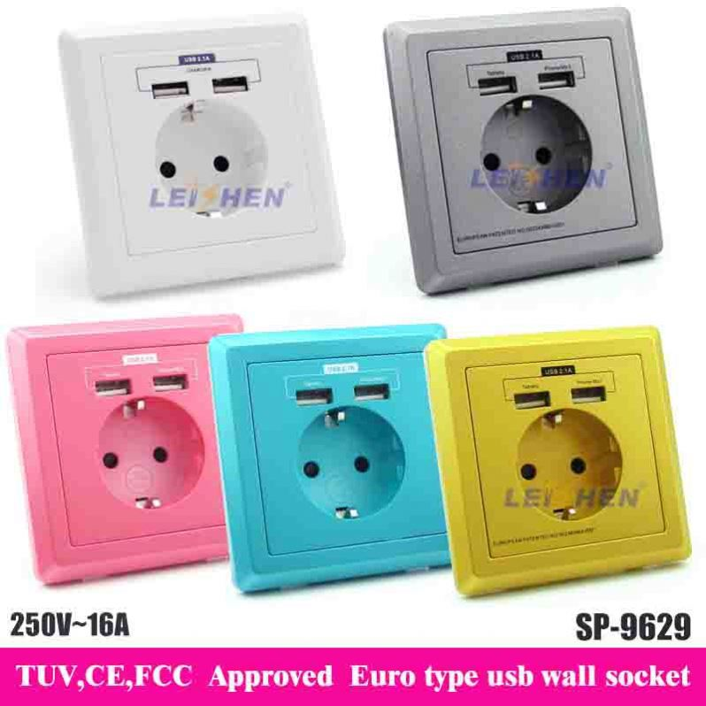 Leishen brand 240v wall socket with CE FCCC ROHS approved