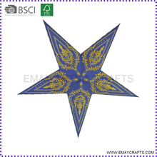 Good Quality Christmas Hanging Five Point Paper Star Decorations