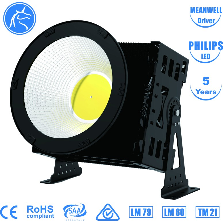 AC85~305V 3000-6000k meanwell driver high brightness led source shenzhen factory supply 1000w 1500w high bay light fixture