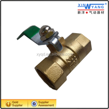 Hand lever flow restricting air control brass ball valve/Pneumatic valve