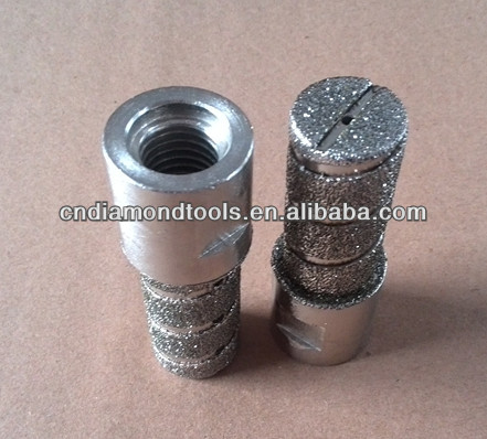 Electroplated Diamond router bits for marble/Diamond finger bits with M14 connection