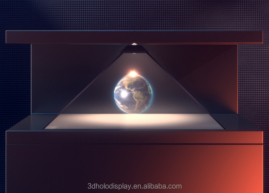 Holographic 3D Display Showcase Advertising Equipment