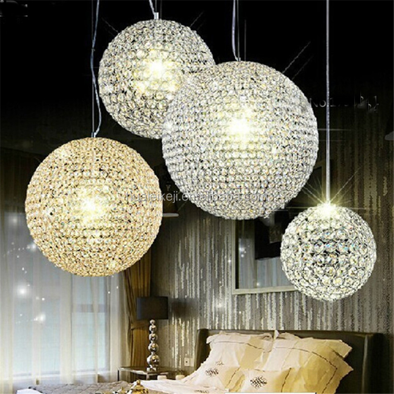 New K9 Crystal ball Pendant Lights for living room high quality Stainless steel Crystal lamps