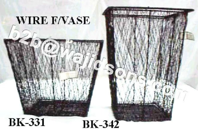 Waste Paper Basket Wire Black