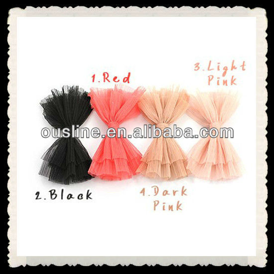 korean tulle folded flower clips,large hair clips hair accessoires