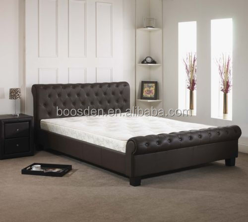 household comfortable leather Bed hot selling bed frame BSD-450105