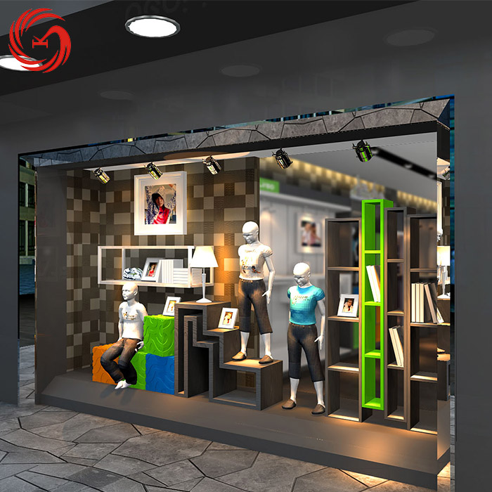 Sturdy construction children's clothing store showcase design