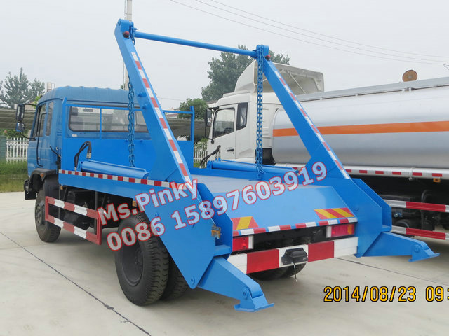 6T-8Tons Rear Loader Garbage Truck Dongfeng Swing Arm Garbage Vehicle with Buckets Arm Roll Trucks Whatsapp 0086 15897603919
