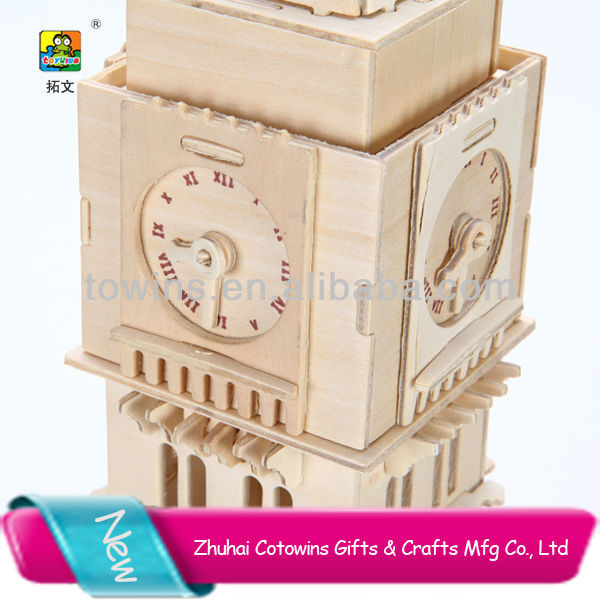 2014 New big ben intellectual puzzle set toys promotion party gift
