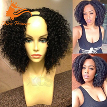 Cheap Peruvian Hair Kinky Curly U Part Wig Unprocessed Virign Human Hair Natural Color U Part Wigs