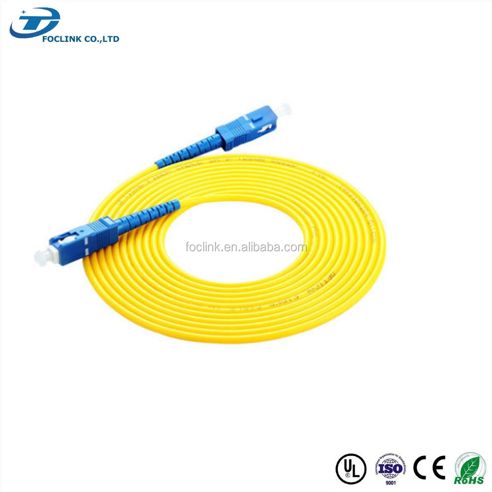 SC fiber optic patch cord/ pigtail/ connector manufacturer with high quality