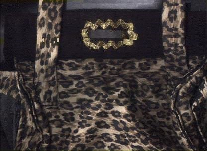 "Dog Purse Carrier Leopard tiny 9""h,w8""L,11"