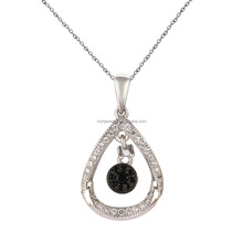 Classic 925 sterling silver jewellery drop center spinel set pendant charms