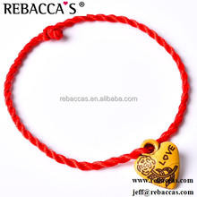 New Bracelet Red Rope Bangle Lucky Beads Couple Bracelets on the Leg for Women Cord String Line Handmade Jewelry Gifts for Lover