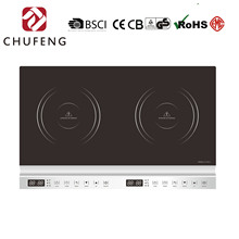 Champion home crystal glass panel 2 burners induction cooker