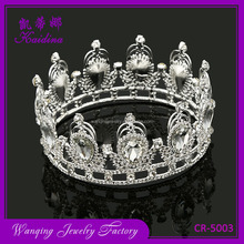 New Arrival Wedding Hair Accessories Custom Rhinestone Bridal Crown And Tiara Made In China
