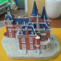 Custom antique cheap resin miniature castle