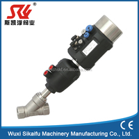 DN32, 1 1/4 inch pneumatic angle seat valve